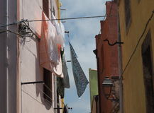 Μεσογειακό αεράκι πλυντηρίων την άνοιξη Στοκ φωτογραφίες με δικαίωμα ελεύθερης χρήσης