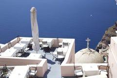 Μεσογειακό εστιατόριο στοκ φωτογραφίες με δικαίωμα ελεύθερης χρήσης