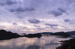 μεσογειακό ηλιοβασίλεμα Στοκ φωτογραφία με δικαίωμα ελεύθερης χρήσης