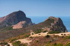 Μεσογειακό νησί Κορσική Corse-du-sud Στοκ Φωτογραφία