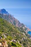 Μεσογειακό νησί Κορσική Corse-du-sud, Piana Στοκ Φωτογραφία