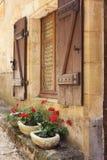 μεσογειακό παράθυρο κι&b στοκ φωτογραφία