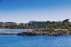 Μεσογειακό τοπίο και λεπτομέρεια της παραλίας και της ακτής Στοκ εικόνα με δικαίωμα ελεύθερης χρήσης