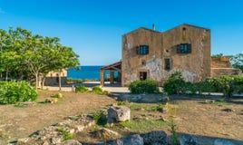 Μεσογειακό τοπίο σε Selinunte, πόλη αρχαίου Έλληνα στη Σικελία, Ιταλία στοκ φωτογραφίες