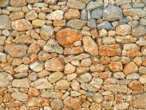 Μεσογειακό υπόβαθρο τοίχων του ξηρού Stone Στοκ Φωτογραφία