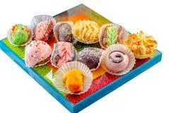 Μεσο-Ανατολικά επιδόρπια Αραβικά γλυκά Henna και Mimouna μπισκότα στοκ φωτογραφία με δικαίωμα ελεύθερης χρήσης