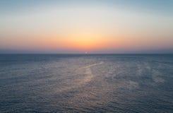 Μεσόγειος πέρα από την ανατ Στοκ Εικόνα