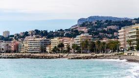 Μεσόγειος στο νότο της Γαλλίας, Menton Στοκ φωτογραφίες με δικαίωμα ελεύθερης χρήσης