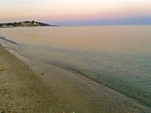 Μεσόγειος το πρωί, στην Ελλάδα αυξημένος στοκ εικόνες