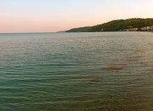 Μεσόγειος το πρωί, στην Ελλάδα αυξημένος στοκ φωτογραφία