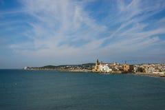Μεσόγειος, Sitges Στοκ Εικόνες