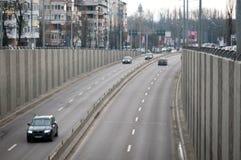 Μετάβαση αυτοκινήτων του Βουκουρεστι'ου Στοκ Φωτογραφίες
