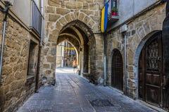 Μετάβαση στο μεσαιωνικό χωριό Olite Ναβάρρα Ισπανία στοκ εικόνα με δικαίωμα ελεύθερης χρήσης