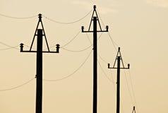 μετάδοση ηλεκτρικής δύνα& Στοκ εικόνες με δικαίωμα ελεύθερης χρήσης
