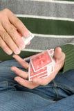 μετάθεση ατόμων καρτών στοκ φωτογραφία