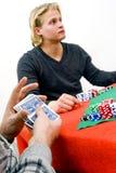 μετάθεση πόκερ καρτών στοκ εικόνες