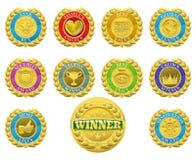 Μετάλλια νικητών απεικόνιση αποθεμάτων