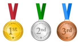 μετάλλια που τίθενται Στοκ εικόνες με δικαίωμα ελεύθερης χρήσης