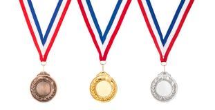 μετάλλια Στοκ Εικόνες