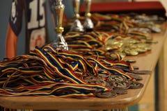Μετάλλια Jitsu Jiu και τρόπαιο στο ρουμανικό πρωτάθλημα, νεώτεροι, το Μάιο του 2018 στοκ εικόνες με δικαίωμα ελεύθερης χρήσης