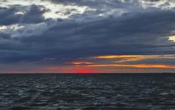 Μετά από το ηλιοβασίλεμα, ο ήλιος έχει αφήσει μια όμορφη σφραγίδα Στοκ Εικόνες