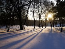 Μετά από το ηλιοβασίλεμα χιονιού Στοκ Εικόνες