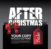 Μετά από το σχεδιάγραμμα τσαντών πώλησης Χριστουγέννων Στοκ Εικόνα