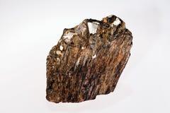 μετάλλευμα πυριτικών αλάτων neso ανδαλουσίτη με τη μίκα Στοκ Εικόνα