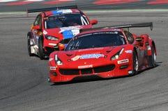 12 μετάλλευμα Hankook Mugello στις 18 Μαρτίου 2017: #11 Scuderia Πράγα, Ferrari 488 GT3: Jiri Pisarik, Josef Krà¡ λ, Matteo Ma Στοκ φωτογραφία με δικαίωμα ελεύθερης χρήσης