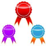 μετάλλια που τίθενται Στοκ Εικόνα