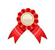 Μετάλλιο βραβείων με την κόκκινη διανυσματική απεικόνιση κορδελλών διανυσματική απεικόνιση