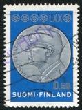 Μετάλλιο με τον επικεφαλής Kekkonen Στοκ Εικόνες