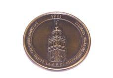 Μετάλλιο συμμετοχής παγκόσμιων εσωτερικό πρωταθλημάτων αθλητισμού της Σεβίλλης 1991, αντιστροφή Kouvola, Φινλανδία 06 09 2016 στοκ εικόνες με δικαίωμα ελεύθερης χρήσης