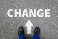 Μεταβαλλόμενη εργασία εργασίας αλλαγής η επιχειρησιακή έννοια αλλαγών ζωής σας στοκ εικόνα