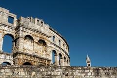 Μεταβλητή άποψη του Colosseum Pula, Κροατία Στοκ εικόνες με δικαίωμα ελεύθερης χρήσης
