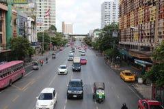 Μετακίνηση κυκλοφορίας πόλεων στη Μπανγκόκ, Ταϊλάνδη Στοκ Εικόνες