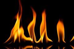 Μετακίνηση πυρκαγιάς φλογών Στοκ Φωτογραφίες