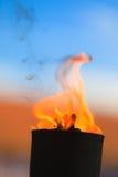Μετακίνηση της φλόγας πυρκαγιάς Στοκ φωτογραφίες με δικαίωμα ελεύθερης χρήσης