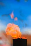 Μετακίνηση της φλόγας πυρκαγιάς Στοκ εικόνες με δικαίωμα ελεύθερης χρήσης