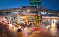 Μετακίνηση του traffice στη Μπανγκόκ Στοκ εικόνα με δικαίωμα ελεύθερης χρήσης