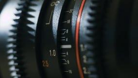 Μετακίνηση των τμημάτων διαφραγμάτων φακών απόθεμα βίντεο