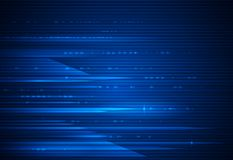 Μετακίνηση υψηλής ταχύτητας και θαμπάδα κινήσεων πέρα από το σκούρο μπλε υπόβαθρο Φουτουριστικός, γεια έννοια τεχνολογίας τεχνολο ελεύθερη απεικόνιση δικαιώματος
