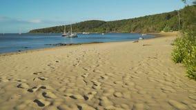 Μετακινηθείτε το 1770 τη μαρίνα και την παραλία στο Queensland, Αυστραλία απόθεμα βίντεο