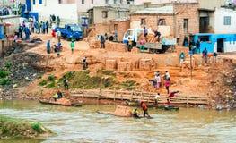 Μετακινούμενοι τούβλου, Antananarivo, Μαδαγασκάρη Στοκ φωτογραφία με δικαίωμα ελεύθερης χρήσης