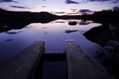 Μεταλαμπή στο Rogen Nationalpark στη Σουηδία στοκ φωτογραφία με δικαίωμα ελεύθερης χρήσης