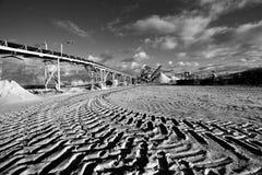 Μεταλλεία ανοικτών κοιλωμάτων για την άμμο και το αμμοχάλικο στοκ εικόνα
