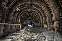 Μεταλλεία κλίσεων σε ένα αλατισμένο ορυχείο στοκ φωτογραφία με δικαίωμα ελεύθερης χρήσης