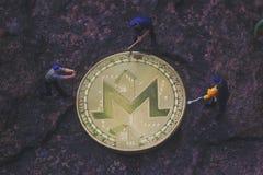 Μεταλλεία MoneroXMR Cryptocurrency στοκ εικόνες με δικαίωμα ελεύθερης χρήσης