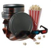 μεταλλικά κουτιά ταινιών κινηματογράφων Στοκ Εικόνα