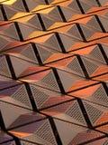 Μεταλλικές γεωμετρικές επένδυση ή επιτροπές στο χαλκό και τα χρυσά χρώματα Στοκ Εικόνες